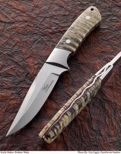 Love the tang detail on this Rodney Watts #knife.