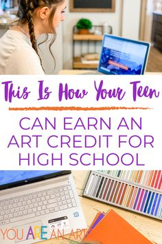 This Is How Your Teen Can Earn An Art Credit For High School High School Curriculum, Homeschool Curriculum Reviews, Homeschool Books, Art Curriculum, Homeschool Kindergarten, Homeschooling, High School Art, Chalk Pastels, Check