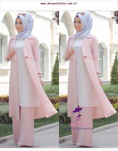 Kleidung Hijab - Blue Page Hijab Outfit, Hijab Style Dress, Hijab Chic, Abaya Mode, Mode Hijab, Muslim Women Fashion, Islamic Fashion, Abaya Fashion, Fashion Dresses