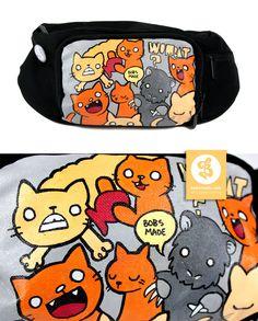 Cats and Wombat Bag by Bobsmade.deviantart.com
