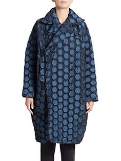 #IsseyMiyake - Honeycomb Long Jacket