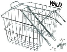 Wald 520 Rear Twin Bicycle Carrier Basket (13.5 x 6.25 x 11) $38.00