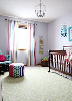 This is probably the best nursery post I've ever seen... mostly because it looks super cute but it's not over the top expensive / tons of work.
