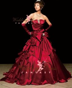 Wedding Dress Fantasy - Burgundy Wedding Dress Available in Every Color, $995.00 (http://www.weddingdressfantasy.com/burgundy-wedding-dress-available-in-every-color/)