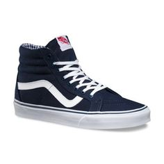 TWILL & GINGHAM SK8-HI REISSUE Dress Blues/True White