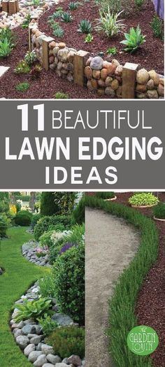 A nice clean garden edge gives your landscape definition and texture. Of course, we'd all love a professionally designed garden area, but the cost of materials alone can be astronomical. These lawn ed (Diy Garden Edging) Diy Garden, Lawn And Garden, Garden Projects, Garden Paths, Garden Tips, Shade Garden, Garden Edger, Rockery Garden, Garden Hoe