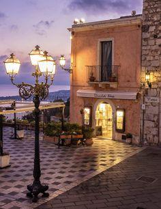 Taormina, Italy by Larita Sarta on Italy Vacation, Italy Travel, Italy Trip, Cool Places To Visit, Places To Travel, Taormina Sicily, Italy Tours, Sicily Italy, Visit Italy