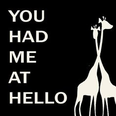 You Had Me At Hello - yes He did!