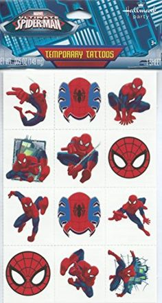 Marvel Ultimate Spiderman Temporary Tattoos >>> See this great product.Note:It is affiliate link to Amazon. #likesreturned