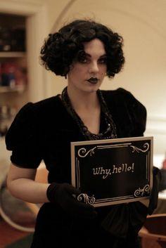 un autre look inspiré des films muets, suggestion maquillage halloween formidable