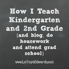 A Day in the Life of a Single Homeschooling Mom Teaching Kindergarten and 2nd grade | LaToyaEdwards.net