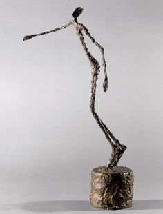 """Alberto Giacometti Homme qui chavire/Falling Man 1950 Bronze, 60 x 22 x 36 cm """"Space does not exist, it has to be created… Every sculpture based on the assumption that space exists is wrong; Alberto Giacometti, Sculpture Projects, Art Sculpture, Modern Sculpture, Wire Sculptures, Moritz Von Schwind, Modern Art, Contemporary Art, Oeuvre D'art"""