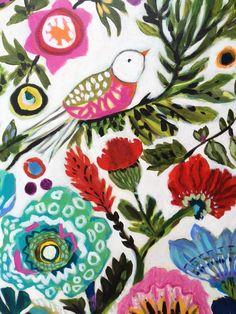 Flor de pájaro Original Bohemia pintura 40 x 30 x 15 Karen Diy Painting, Painting & Drawing, Bohemian Flowers, Painted Flower Pots, Spring Garden, Bird Art, Art Lessons, Flower Art, Original Paintings