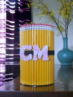 Pencil cup, easy teacher gift