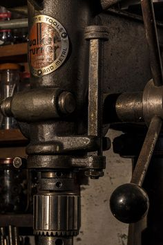 Andrew Pacheco Photograph - The Old Workshop by Andrew Pacheco Antique Tools, Vintage Tools, Old Garage, Old Factory, Machine Age, Drill Press, Vintage Microphone, Blacksmithing, Anvils For Sale