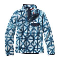 Patagonia Women's Synchilla Lightweight Snap-T Pullover - Our classic pullover jacket made of 200-weight Synchilla® polyester (85% recycled) fleece has Supplex® nylon reinforcement on the collar and provides everyday warmth and comfort.