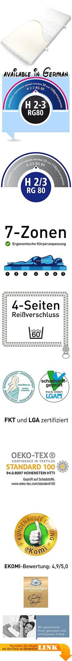 B0092O5NDE : Ravensberger THERMO LUX VISCO 80 Auflage Topper EUROFOAM VISCO RG 80 (50-110 kg) Baumwoll-DT 90x200 cm. Thermoelastische VISCO Auflage - EUROFOAM-VISCO RG 80 - Härtegrad: 2/3 (50-110 kg) - Höhe: 9 cm - Baumwoll-Doppeltuch - 90 x 200 cm. Punktgenaue Körperanpassung durch 7 cm EF-Premium-VISCO RG 80 - Thermoelastische Spitzenqualität. Zertifiziert nach ÖKO TEX Klasse 1 (für Babys geeignet) - certiPUR und LGA schadstoffgeprüft - FKT Textil. Hersteller-Garantie:
