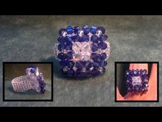 Beading4perfectionists : 3 row duo colour ring beginning beaders beading tutorial