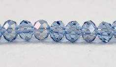 Crystal Rondelle Beads 4x3mm (3x4mm) Medium Blue AB Crystal Beads, Small Faceted Crystal Beads, Chinese Crystal Glass Beads, 100 Loose Beads by BusyBeeBeadSupplies on Etsy