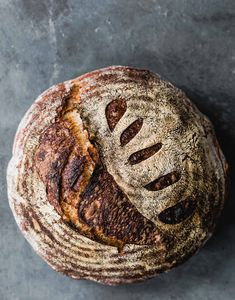 Whole Wheat Sourdough Bread Recipe with freshly milled flour