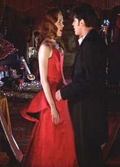 Moulin Rouge Smoldering Temptress Gown Movie Gown Side