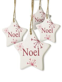 White Ceramic Star Ornaments - DIY?