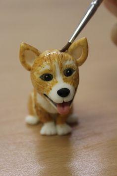 How To: Make a fondant dog... Corgi tutorial
