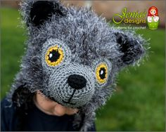 Crochet pattern only! This is a PDF pattern for crochet wolf hat for babies, toddlers, children, teens, adults, boys and girls. Wolf, big bad wolf, forest creature, Halloween, gift idea, Christmas. This Wolf creature is soft and cozy... not scary at all! The hat features a furry cap design with braided ties, ears and a cute wolf face. The pattern sizing accommodates all ages from 6 months old to adult. A great gift idea that is perfect for chilly days, picture time, back to school or just…