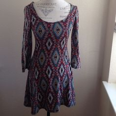 """☃ NWOT """"Lucy in the Sky"""" dress Adorable flattering fit-and-flare style dress with long sleeves. Sleeves have laddered detailing Dresses Long Sleeve"""