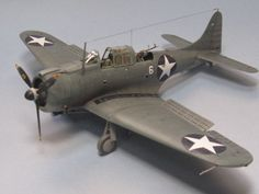 ACADEMY 1/48 USN SBD-2 Battle of MIDWAY Pro built painted model kit aircraft #Academy