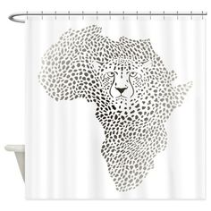 Symbol Africa in cheetah camuflage Shower Curtain on CafePress.com