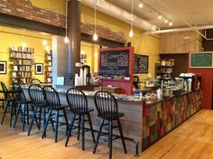 Elements: Books Coffee Beer  (or as I would call it: Paradise exists!).  265 Main Street. Biddeford, Maine 04005.