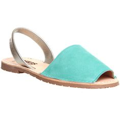 Solillas Sandals (958.775 IDR) ❤ liked on Polyvore featuring shoes, sandals, turquoise silver, women, leather peep toe shoes, rubber sole shoes, peeptoe shoes, peep toe sandals and leather footwear