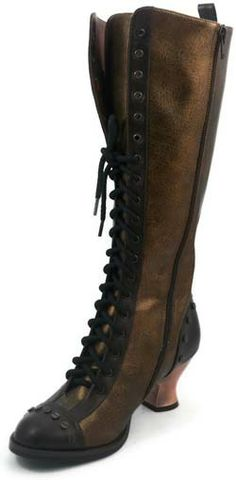 Dome Brown Victorian Boots