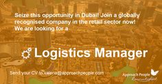 Retail Sector, Career Opportunities, Job Description, Job S, Supply Chain, Opportunity, Dubai, Management, Positivity
