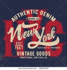 vintage tee print design with old effect