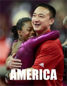US gymnast star wins all-around, with help from her Chinese coach. Go America!