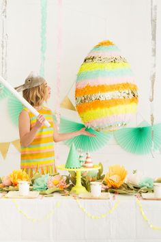 Giant Cascarones Egg Pinata   Oh Happy Day!