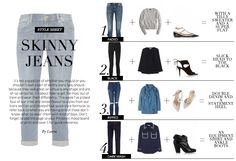 4 new ways to wear skinny jeans: Wardrobe ICONS http://wardrobeicons.com/the-icons-update/how-to-wear-skinny-jeans/