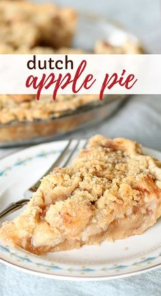 Dutch apple pie recipe with homemade crumble topping and delicious pie filling. This dutch apple pie recipe is the very best and is so easy to make! A crispy crumble topping on a homemade apple pie filling make this dutch apple pie a family favorite! Apple Pie Recipe Easy, Easy Pie Recipes, Apple Dessert Recipes, Homemade Apple Pies, Köstliche Desserts, Apple Recipes, Delicious Desserts, Apple Pie Recipe Crumble Top, Dutch Apple Pie Recipe Pioneer Woman