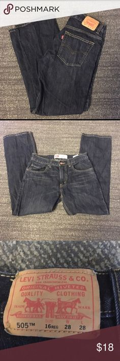 ❤ Boys Levi's 505 jeans AMAZING CONDITION!!  Boys size 16 jeans!! Basically new and perfect for any season! Levi's Bottoms Jeans