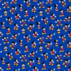 Mickey and Minnie Mouse - Mickey Blue by Disney from Springs Creative Mickey Mouse Fabric, Mickey E Minnie Mouse, Classic Mickey Mouse, Mickey Mouse Wallpaper, Disney Phone Wallpaper, Disney Quilt, Disney Fabric, Thanksgiving Wallpaper, Disney Background