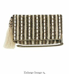 Martini MARY FRANCES Beaded Cross-Body Double Pocket Cell Phone//Glasses Pouches