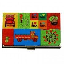 Truck Story Steel Card Holder by The Elephant Company