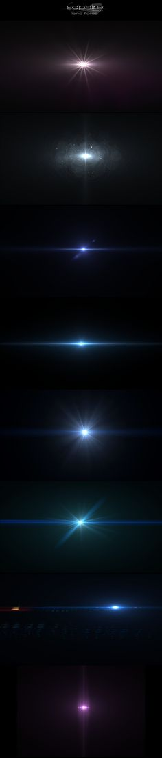 Amazing lens flares by SaphireDesign.deviantart.com on @DeviantArt