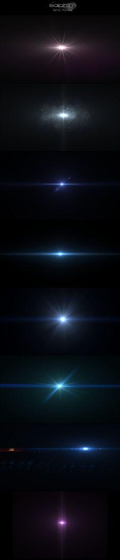 Amazing lens flares by SaphireDesign.deviantart.com on @DeviantArt