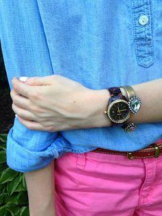 Caroline Grace Prep- Colorful Shorts Link Up Elle Woods, Spring Summer Fashion, Pink Blue, Preppy, Colorful, Shorts, My Style, Link, Closet