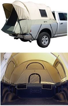 I would love camping like this! I would just fill up the entire bed of the truck with a million pillows and blankets!