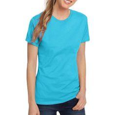 Hanes Women's Lightweight Short Sleeve Scoop neck T-Shirt, Size: Large, Blue