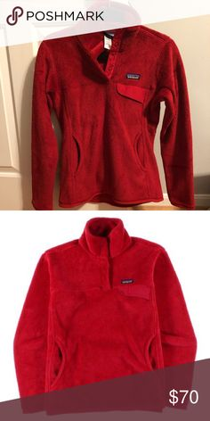 693c5cc6375 Red Patagonia Women s Snap-T Pullover